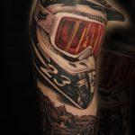 Ski Tattoo von Alex, Peckstage