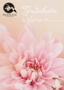 Tattoogutschein Blumenmotiv