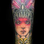 Farbiges Gesicht Tattoo von Manny, Peckstage