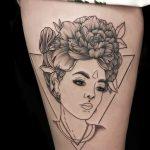 Finline Tattoo von Tania, Peckstage