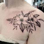 Blumen Tattoo von Kevin, Peckstage