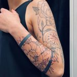 Flower sleeve Tattoo von Manny, Peckstage