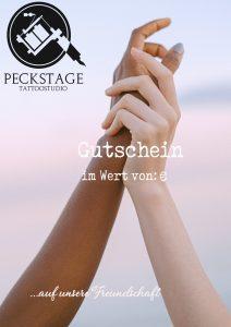 Gutscheinvorlage Freundschaft