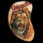 Löwentattoo von Benji, Peckstage