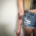 Sketch Tattoo Rose von Rene, Peckstage