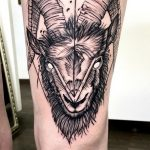 Steinbock Tattoo von Kevin, Peckstage