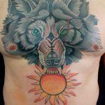 Wolf Tattoo von Manny, Peckstage