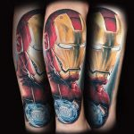 Iron Man, realistiches Tattoo von Andre