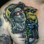 Rennfahrer Tattoo