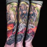 farbiges Tattoo von Andre
